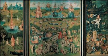 Reprodução do quadro The Garden of Earthly Delights, 1503-04