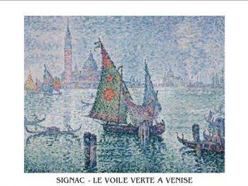 Reprodução do quadro The Green Sail, Venice, 1902