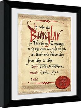 The Hobbit - Burglar Poster Emoldurado