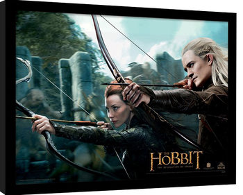 THE HOBBIT: THE DESOLATION OF SMAUG - tauriel & legolas Poster Emoldurado