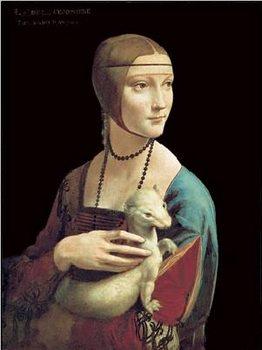 Reprodução do quadro  The Lady With the Ermine