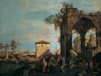 Reprodução do quadro  The Landscape with Ruins I