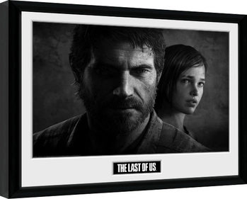 The Last Of Us - Black and White Poster Emoldurado