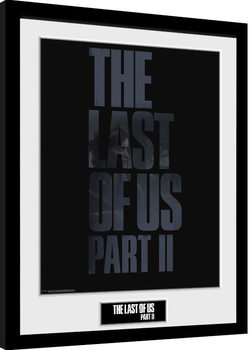 The Last Of Us Part 2 - Logo Poster Emoldurado