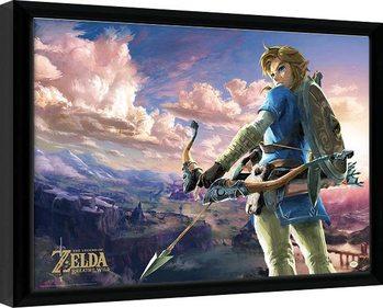 The Legend Of Zelda: Breath Of The Wild - Hyrule Scene Landscape Poster Emoldurado
