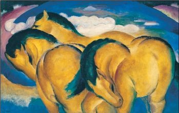 Reprodução do quadro The Little Yellow Horses