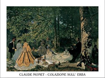 Reprodução do quadro  The Luncheon on the Grass, 1865-66