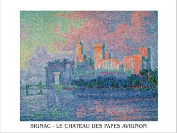 Reprodução do quadro The Papal Palace, Avignon