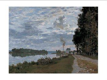 Reprodução do quadro The Promenade at Argenteuil