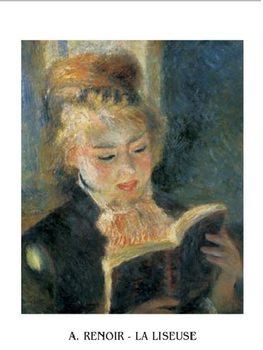 Reprodução do quadro The Reader - Young Woman Reading a Book, 1876