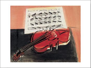 Reprodução do quadro The Red Violin, 1966