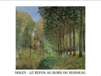 Reprodução do quadro The Rest beside a Creek, 1872