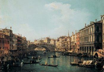 Reprodução do quadro  The Rialto Bridge – Ponte di Rialto