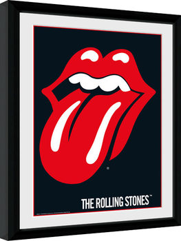 The Rolling Stones - Lips Poster Emoldurado