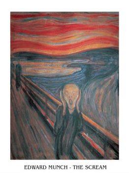 Reprodução do quadro  The Scream, 1893