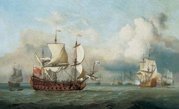 Reprodução do quadro  The Ship English Indiaman