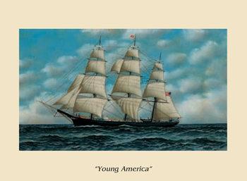 Reprodução do quadro  The Ship Young America