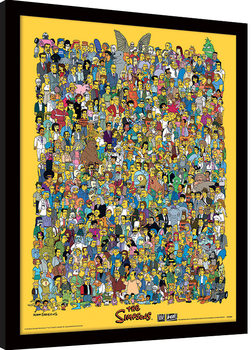 The Simpsons - Characters Poster Emoldurado
