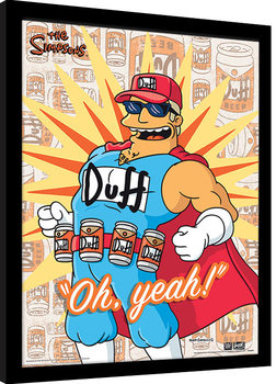 The Simpsons - Duff Man Poster Emoldurado