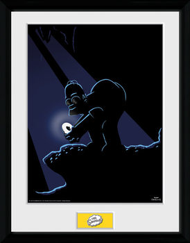 The Simpsons - Gollum Poster Emoldurado