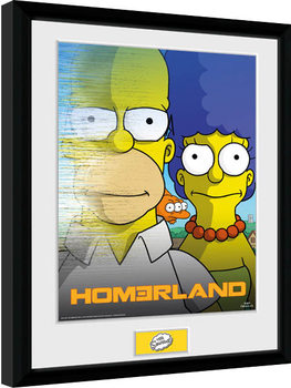 The Simpsons - Homerland Poster Emoldurado