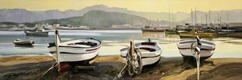 Reprodução do quadro The Stillness at Dawn