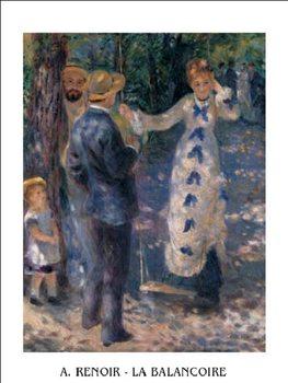 Reprodução do quadro The Swing, 1876