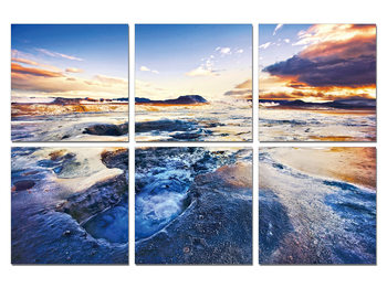 Quadro  The tide in sunset