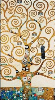 Reprodução do quadro The Tree Of Life - Stoclit Frieze, 1909