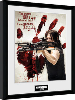 The Walking Dead - Daryl Bloody Hand Poster Emoldurado