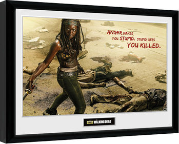 The Walking Dead - Michonne Kill Poster Emoldurado