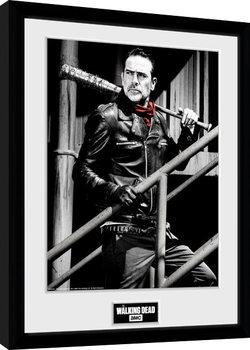 The Walking Dead - Negan Stairs Poster Emoldurado