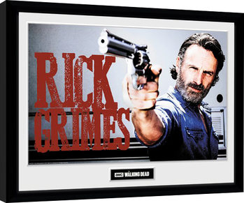 The Walking Dead - Rick Grimes Poster Emoldurado