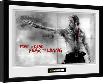 The Walking Dead - Rick Poster Emoldurado