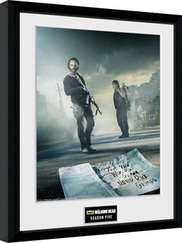 The Walking Dead - Season 5 Poster Emoldurado