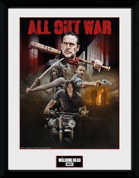 The Walking Dead - Season 8 Collage Poster Emoldurado