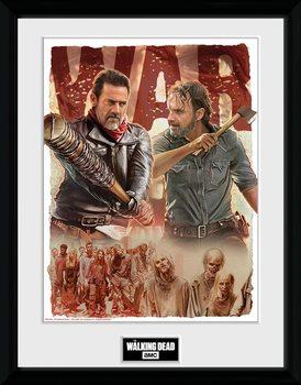 The Walking Dead - Season 8 Illustration Poster Emoldurado