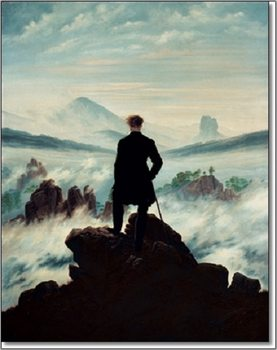 Reprodução do quadro  The wanderer above the sea of fog, 1818