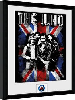 The Who - Union Jack Poster Emoldurado