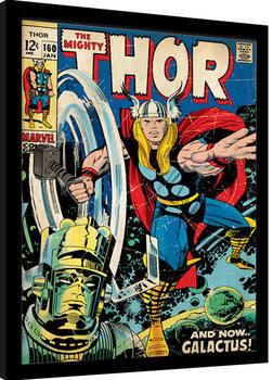 Thor - Galactus Poster Emoldurado