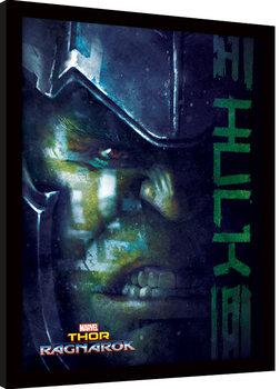 Thor Ragnarok - Hulk Poster Emoldurado