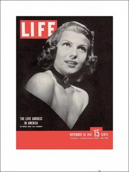 Reprodução do quadro Time Life - Life Cover - Rita Hayworth