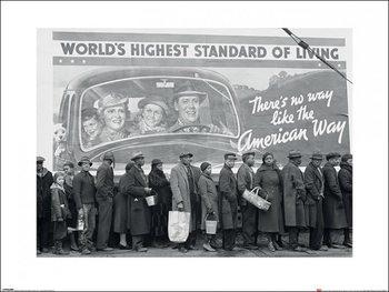 Reprodução do quadro Time Life - World's Highest Standard of Living