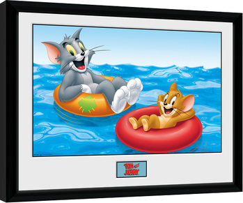 Tom and Jerry - Floats Poster Emoldurado