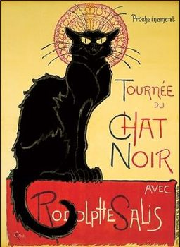 Reprodução do quadro  Tournée de Chat Noir - Black Cat
