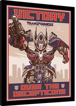 Transformers The Last Knight - Victory Poster Emoldurado