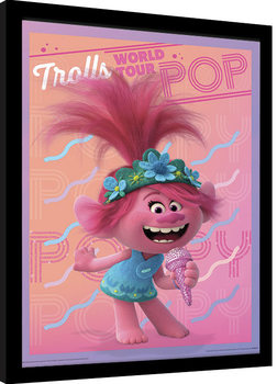 Trolls World Tour - Poppy Poster Emoldurado