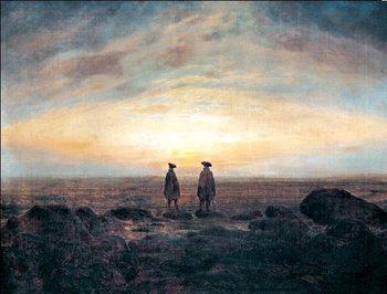 Reprodução do quadro Two Men by the Sea, 1817