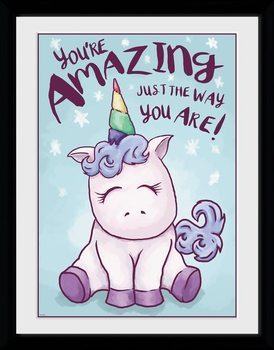 Unicorn - Amazing Poster Emoldurado
