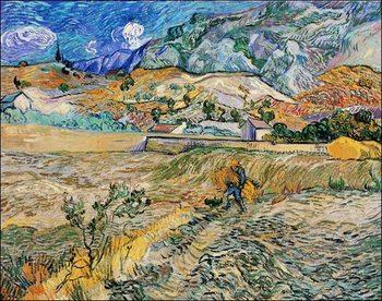 Reprodução do quadro Van Gogh - Paesaggio a San Remy